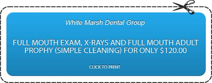 Full mouth exam, x-rays and full mouth adult prophy (simple cleaning) for only $120
